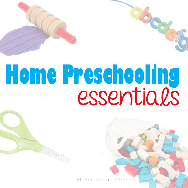 Home Preschooling Essentials- A thorough list of supplies you'll need to get started!