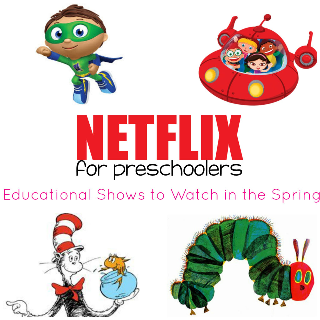Don't make your home preschool plans without looking at this guide! This mom lists all the Netflix preschool shows that coordinate with the spring season!