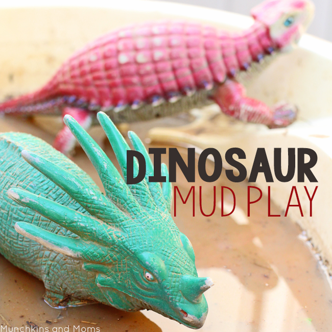 Dinosaur Mud Play- a great preschool activity this spring!