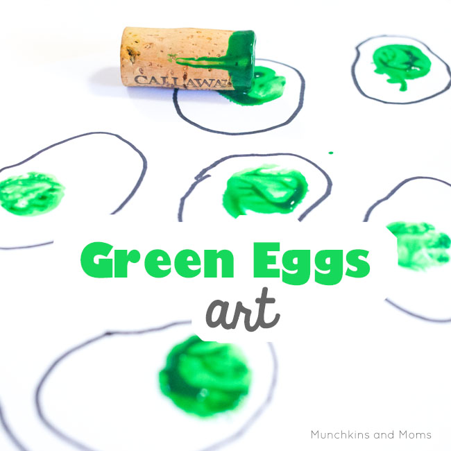 Green Eggs and Ham art based on the popular Dr. Seuss book! Perfect for Read Across America/ Dr. Seuss' birthday