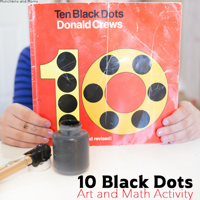 Preschool and first grade lesson plan to use with the book 10 Black Dots