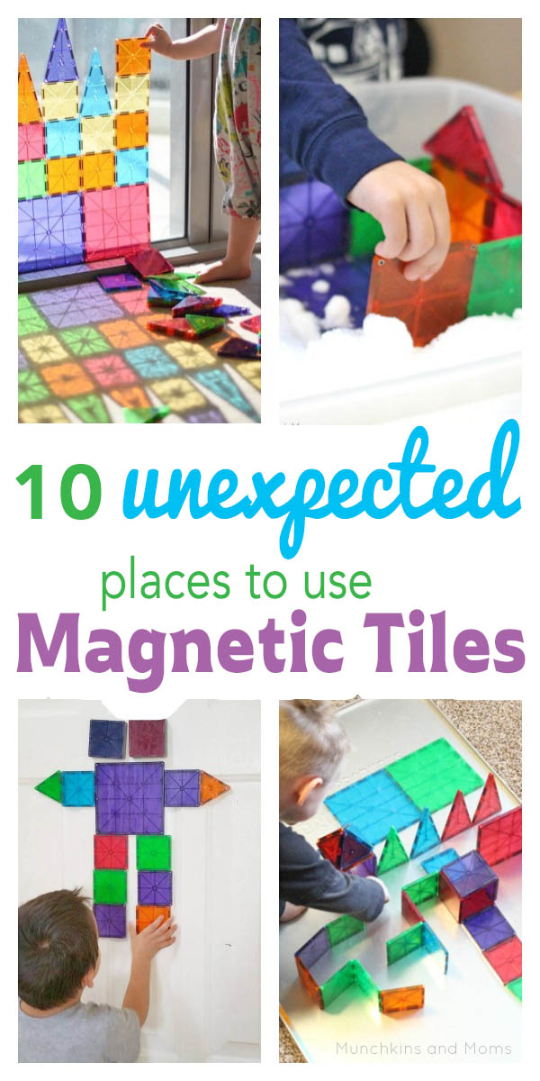 10 Unexpected Places To Use Magnetic Tiles Munchkins And Moms