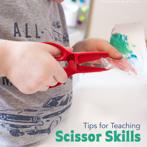 Tips for teaching toddlers and preschoolers how to develop scissor skills