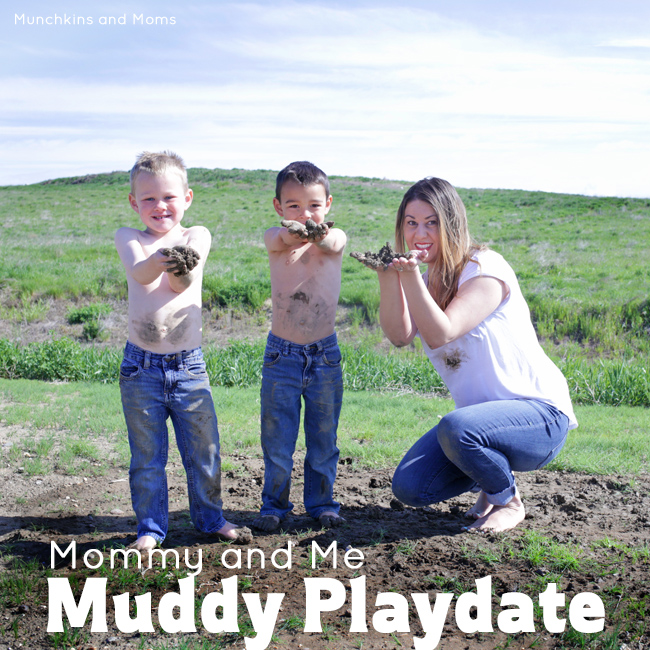 Get messy with your kids in this Mommy and Me Muddy Playdate!
