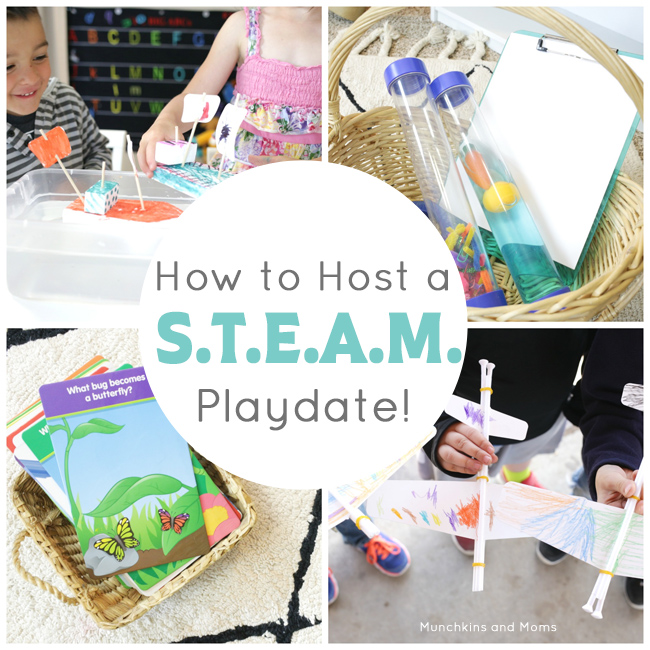 How to host a STEAM playdate or (preschool co-cop) day!