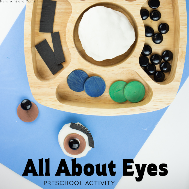 """All About Eyes- a preschool invitation to learn and play. This is perfect for an """"All About Me"""" theme in September!"""