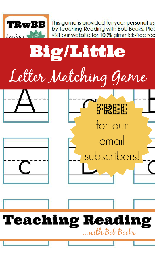 How to teach children to match upper and lower case letters.