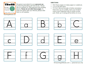 My Big-Little Letter Matching Game is perfect for teaching preschoolers their letters and how the big and little letters go together.