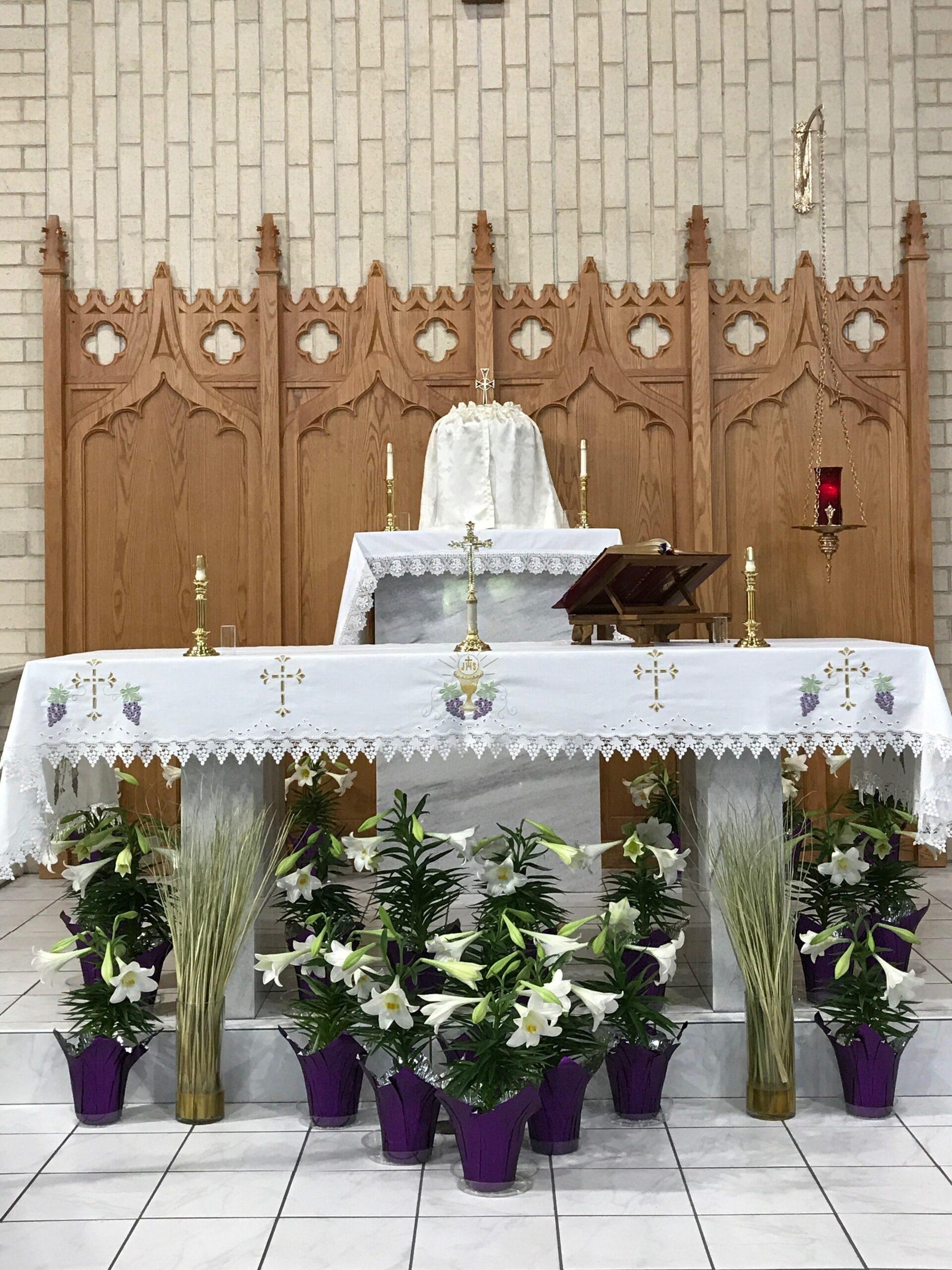Easter altar (2)