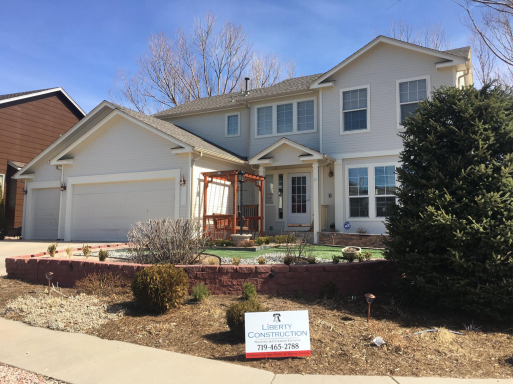 Liberty Construction Replacement: GAF ArmorShield II Shingle - Weathered Wood / Mastic Gutters