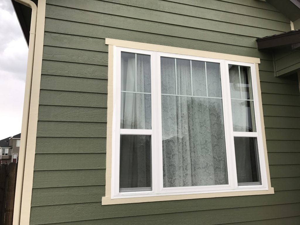 Simonton Three Lite Single Hung Window / Sherwin Williams Paint