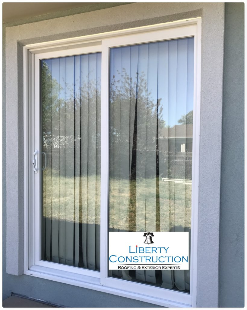Simonton Patio Sliding Door / Parex USA Stucco