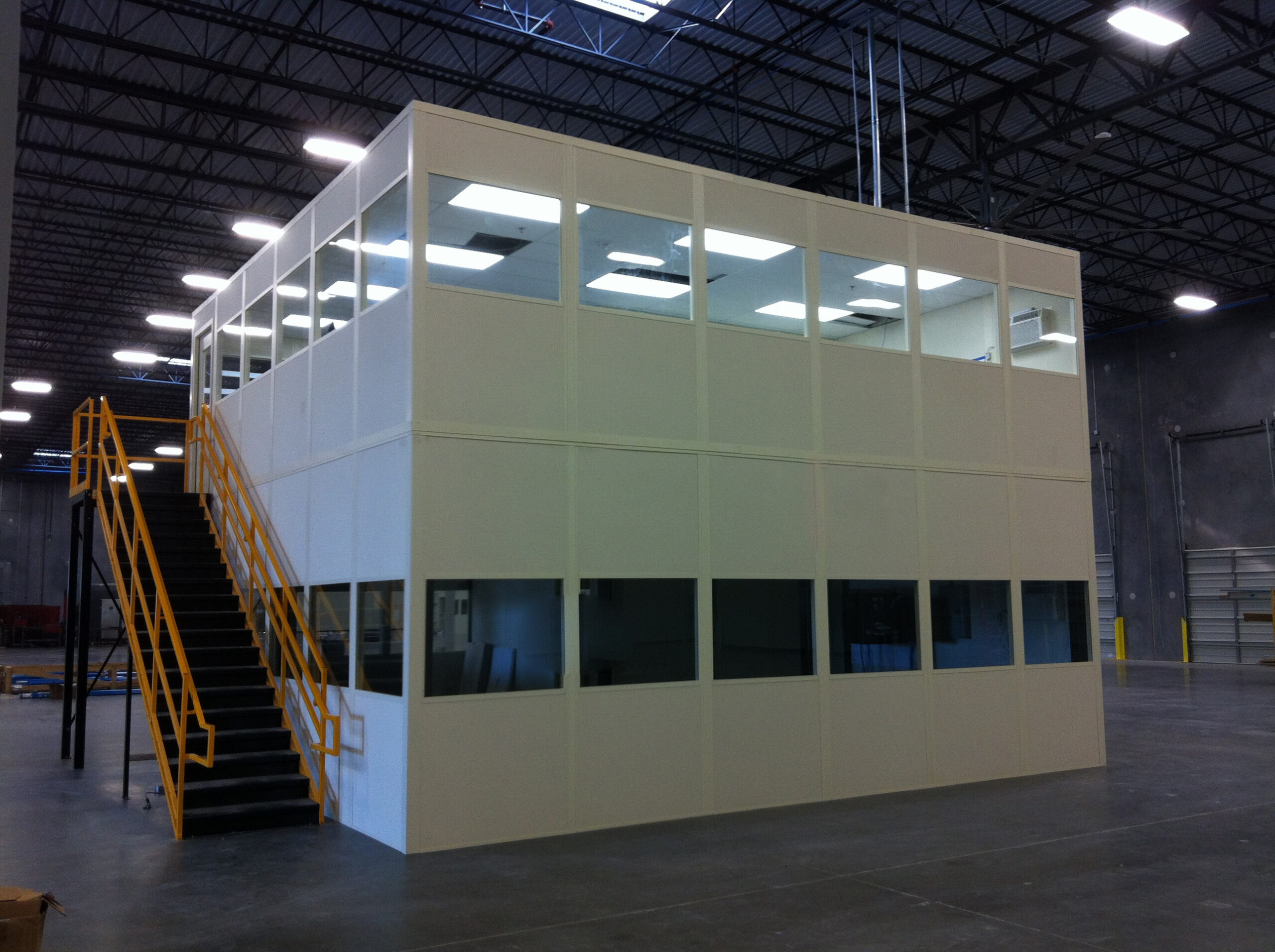 two-story modular office