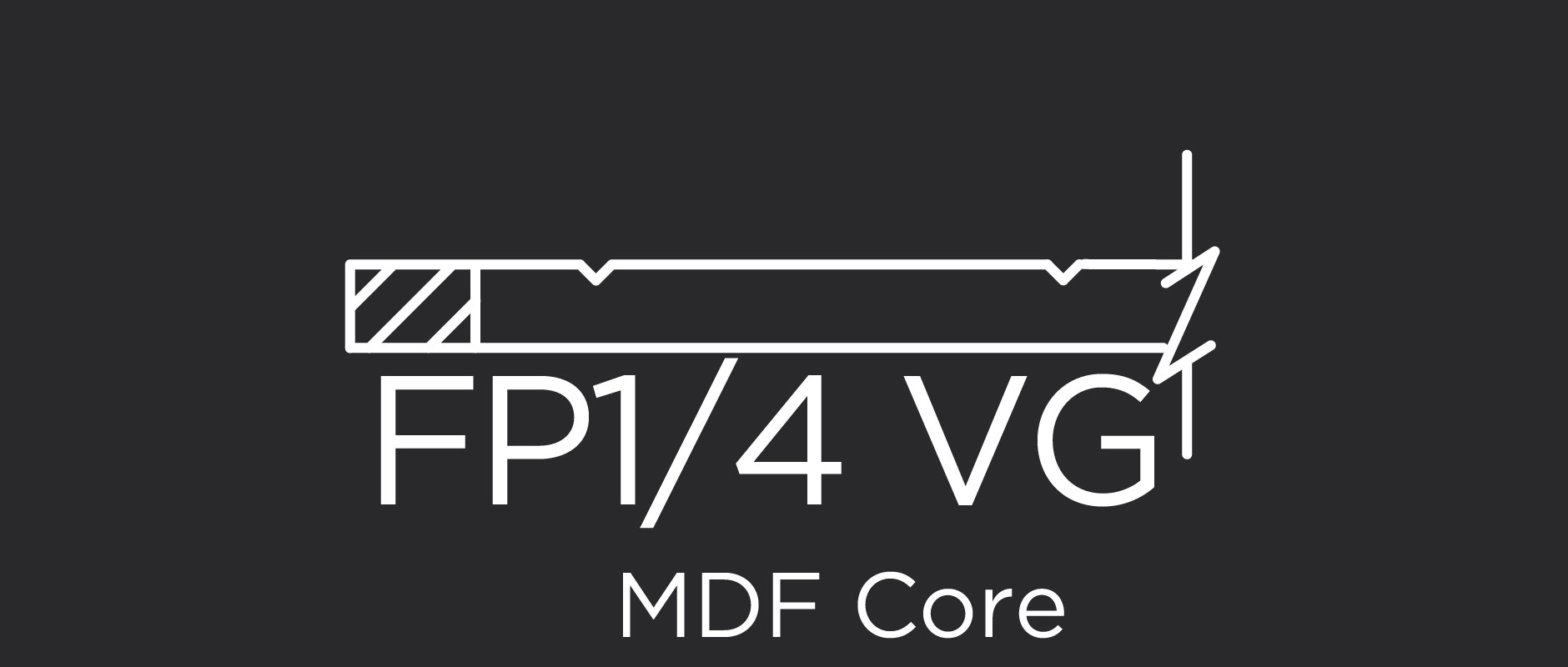 FP1/4 VG MDF core flat panel with v-grooves