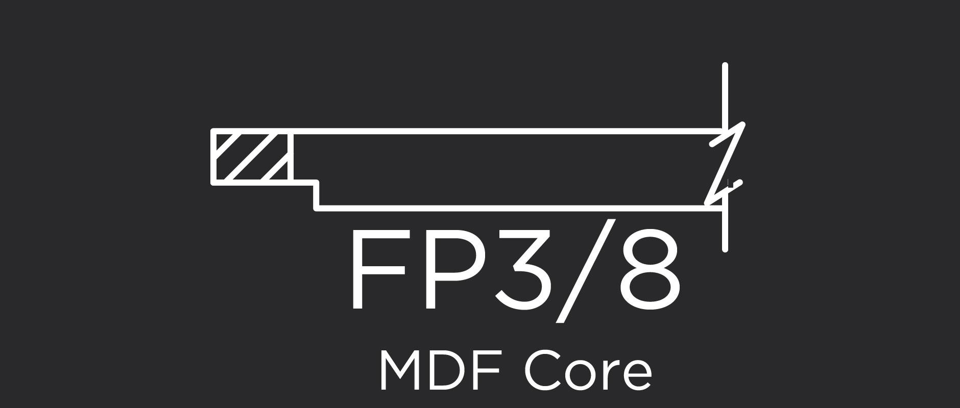 FP3/8 MDF core flat panel