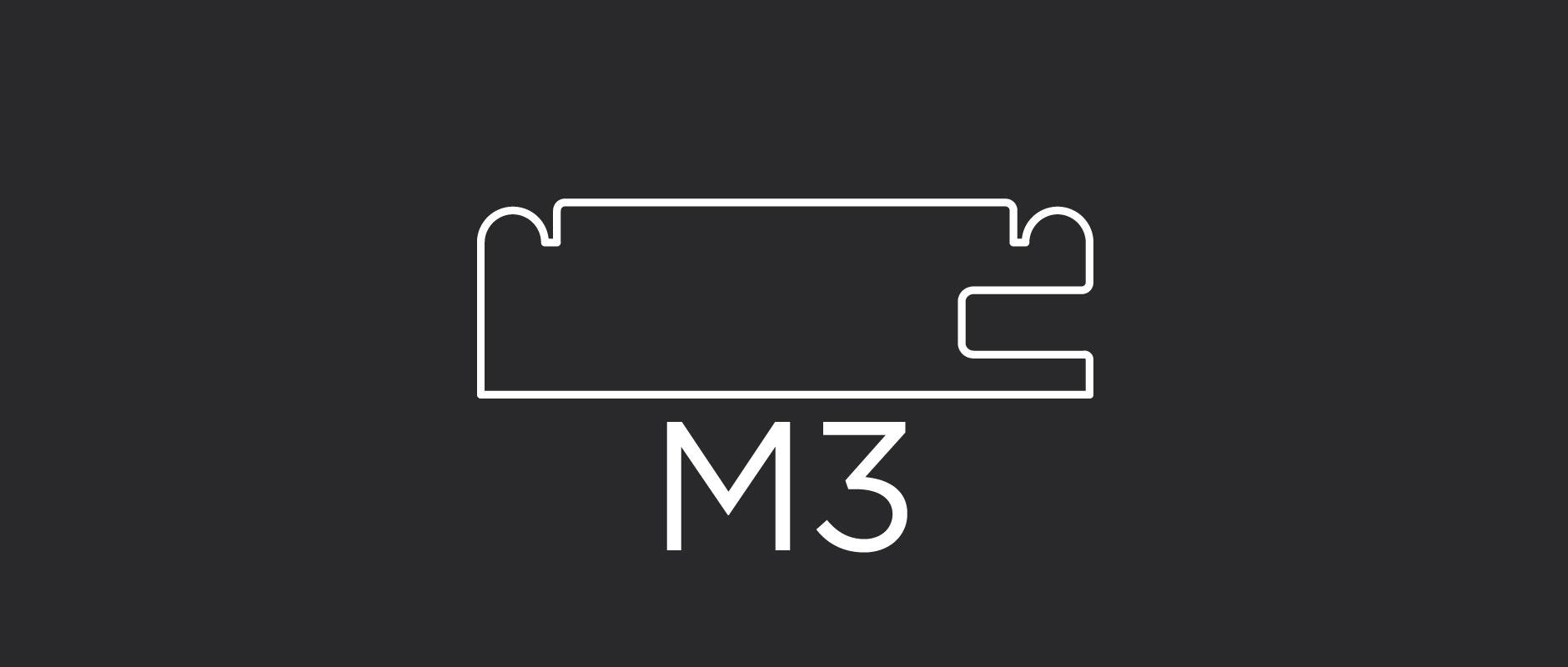 """M3 mitered door frame 2-3/8"""" wide"""