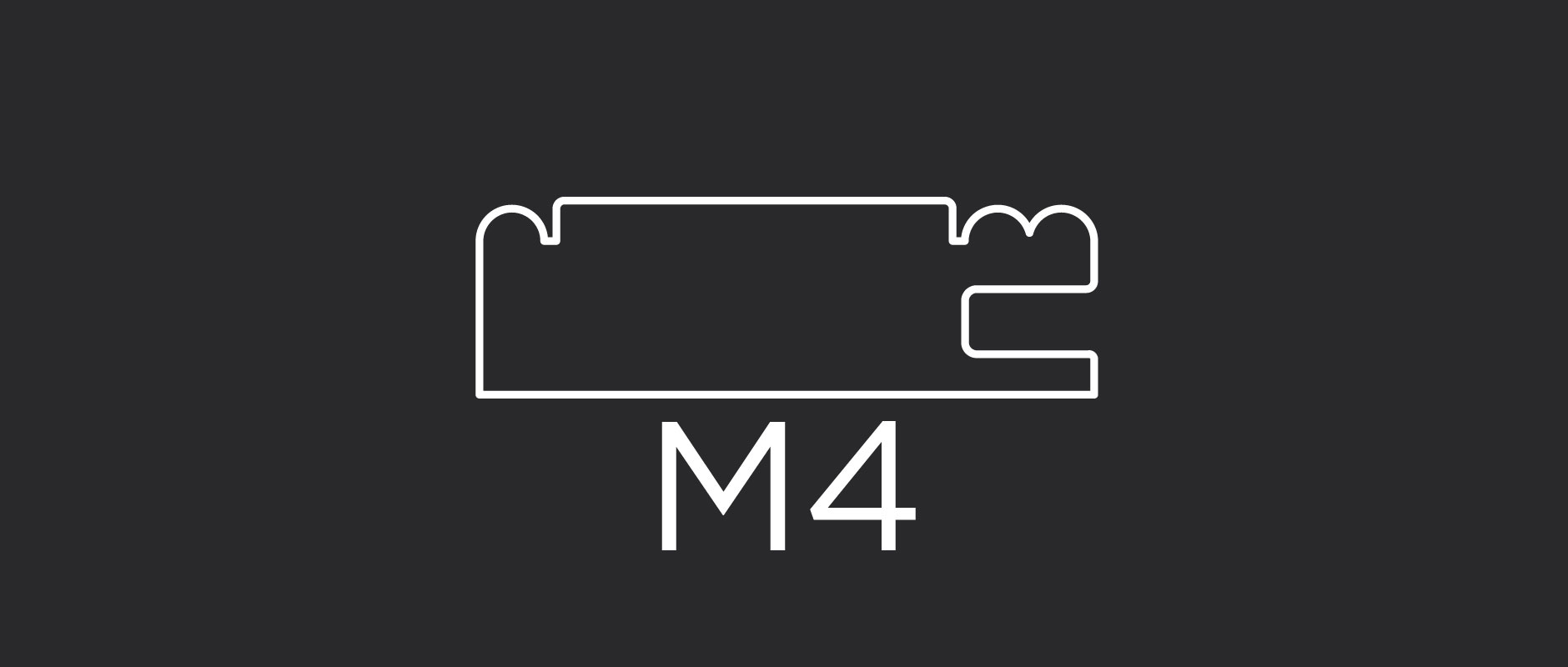 "M4 mitered frame profile 2-3/8"" wide"