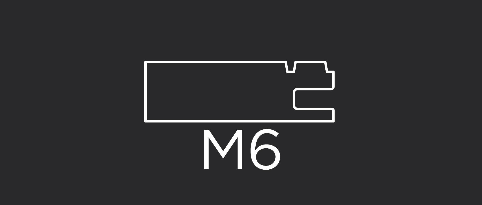 "M6 mitered door frame profile 2-3/8"" wide"