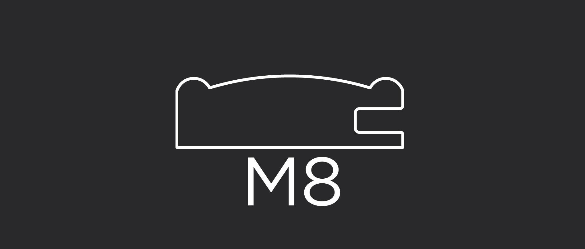 """M8 mitered door frame 2-3/8"""" wide"""