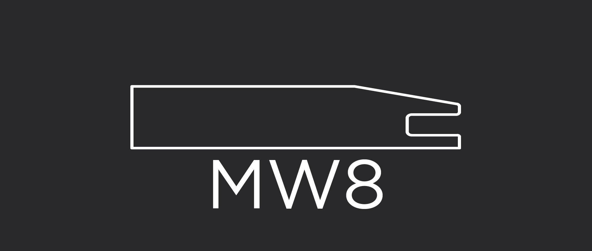 "MW8 mitered cabinet door frame 3-1/8"" wide"