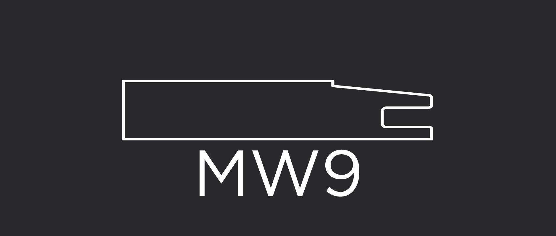 """MW9 mitered door frame 3-1/8"""" wide"""