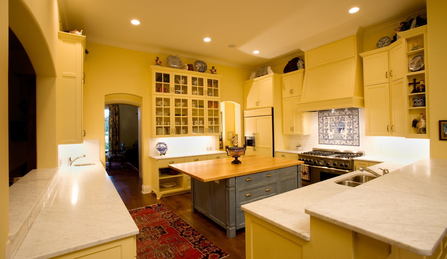 """Kitchen cabinet 11 shown with C101 - OE5, IE5, FP3/8"""" cabinet doors"""