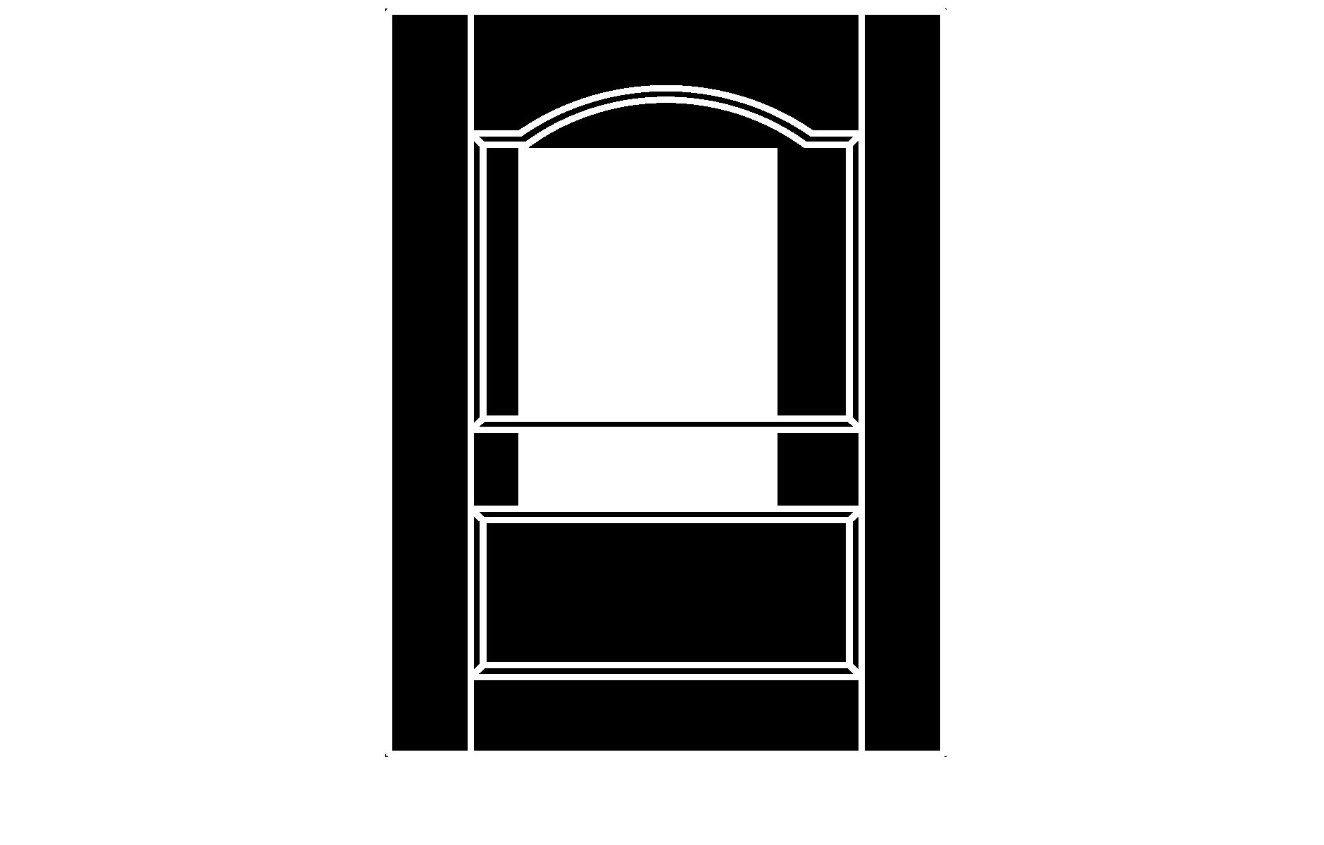 C233 cope and stick cabinet door configuration