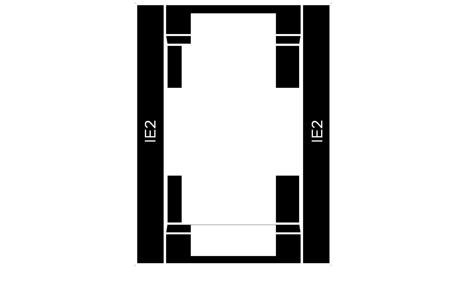 CF101 combination frame cabinet door configuration