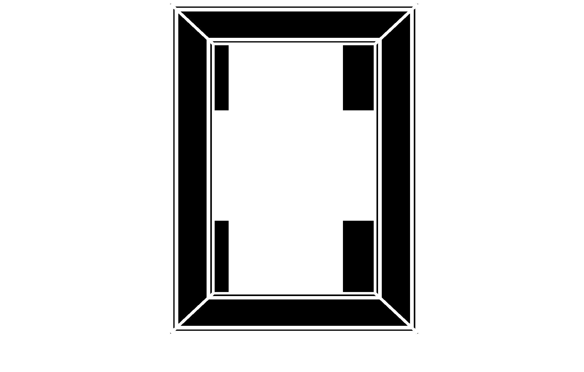 M101 mitered cabinet door configuration