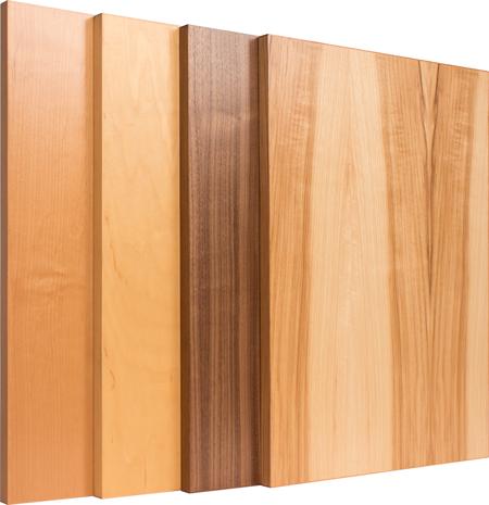 Modern Edgebanded Slab Veneer Cabinet Doors