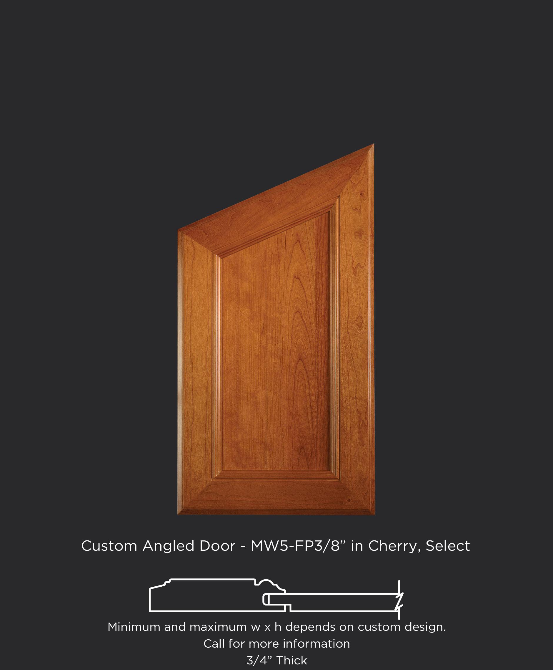 Angled Top Cabinet Door