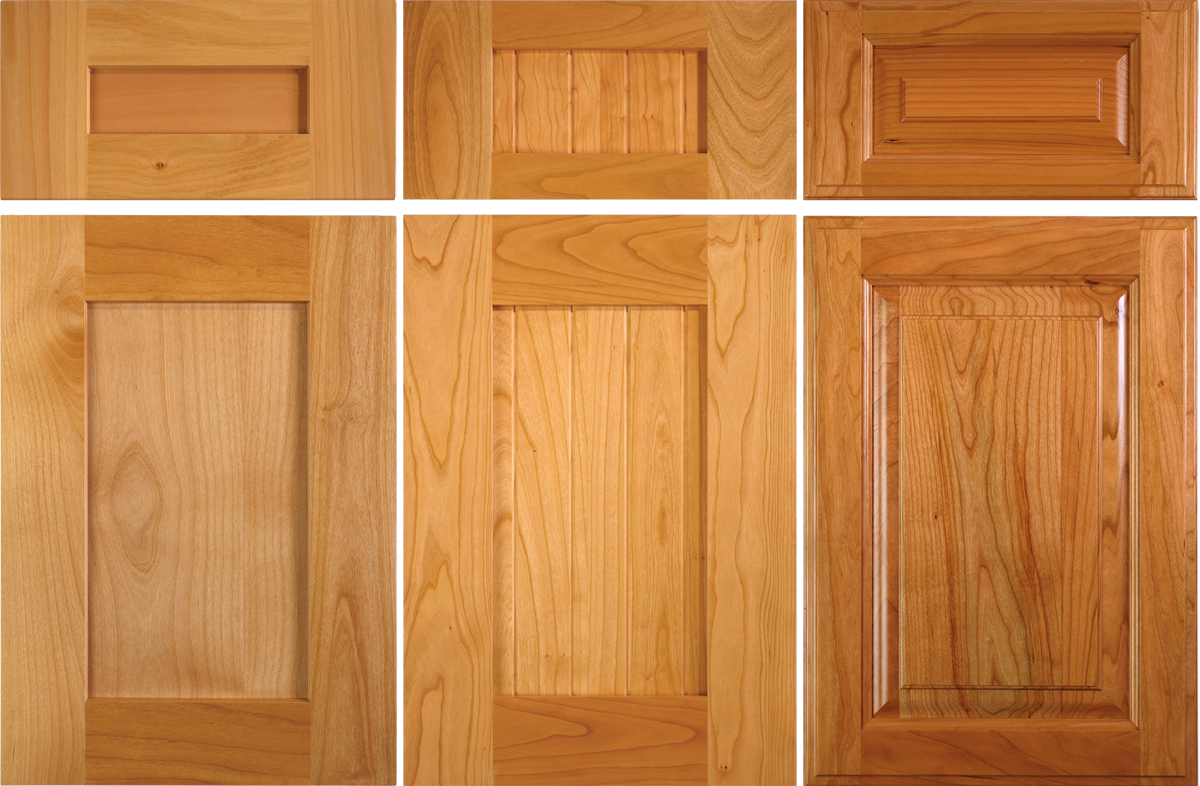 alder cabinet door and new versus 2 year old cherry cabinet door