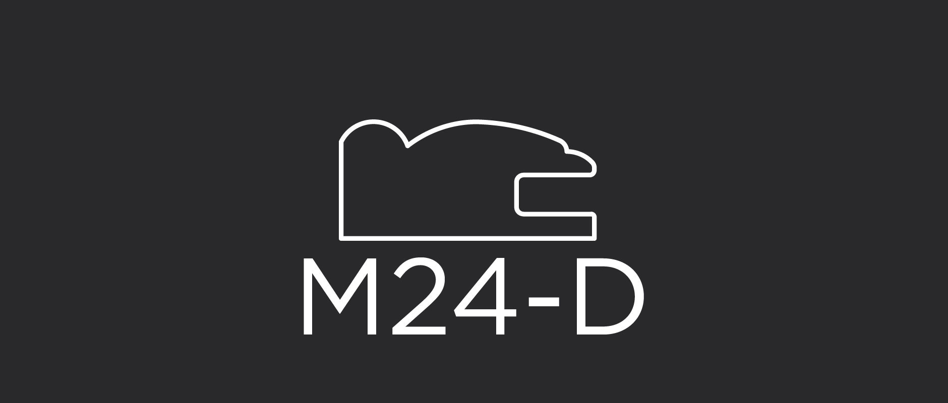 M24-D mitered reduced size frame for use in 5-piece drawer fronts