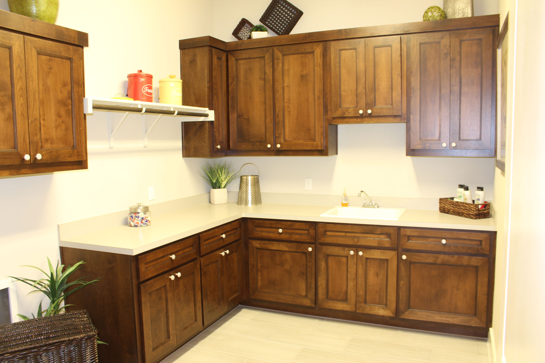 """mitered laundry room cabinet doors with MW6 Frame and 1/4"""" flat panel"""
