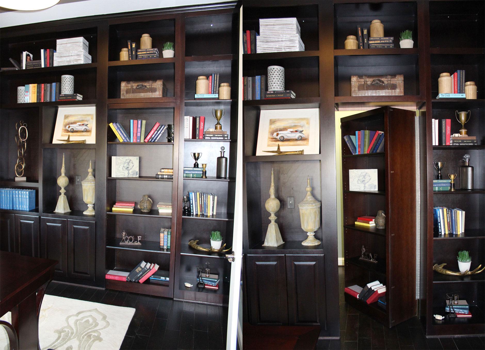 Office with hidden secret door