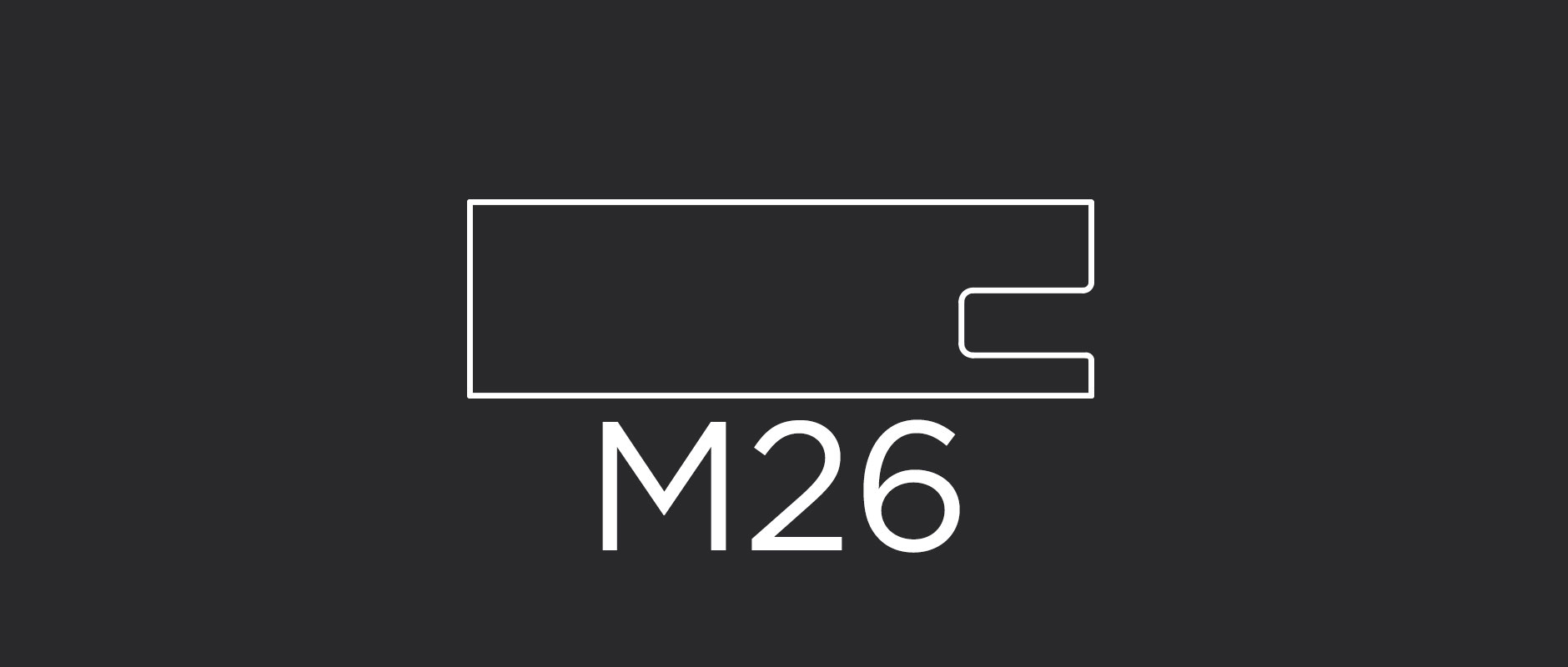 """M26 mitered frame 2-3/8"""" wide"""