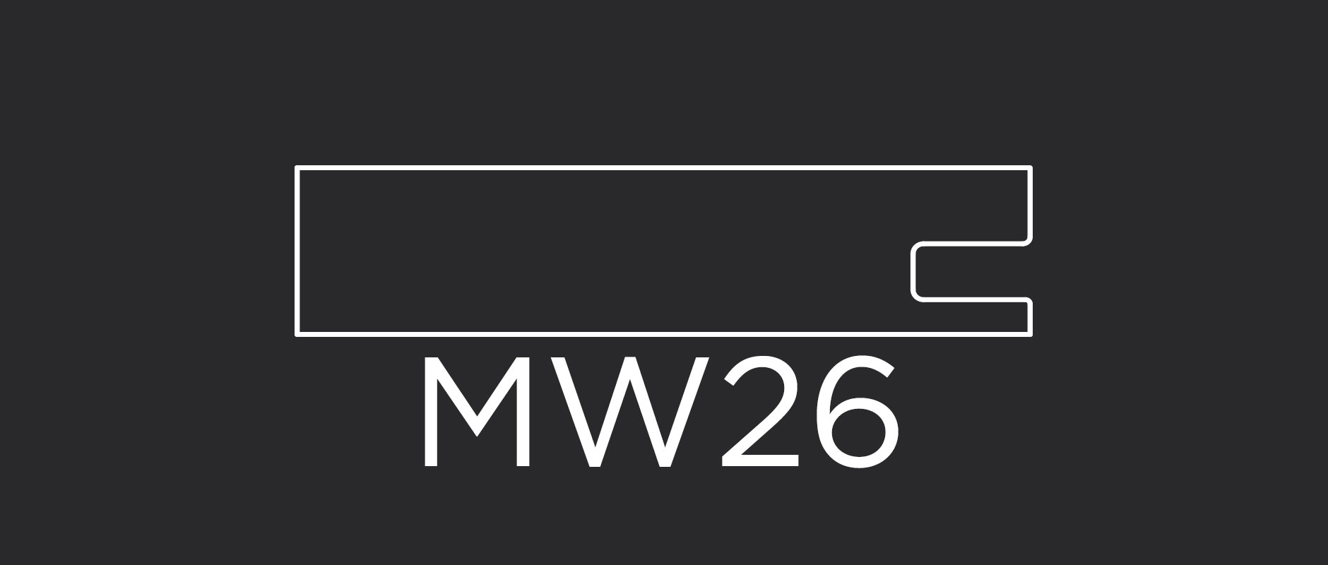 "MW26 mitered frame 3-1/8"" wide"