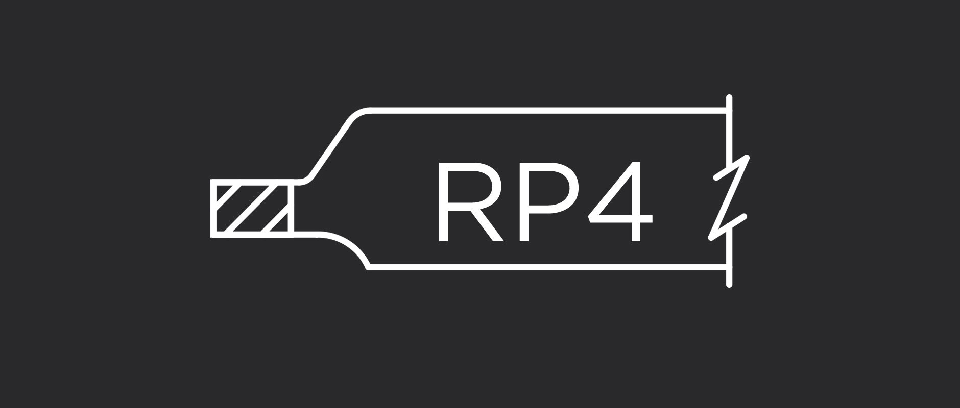 RP4 raised panel profile for cope and stick and mitered cabinet doors