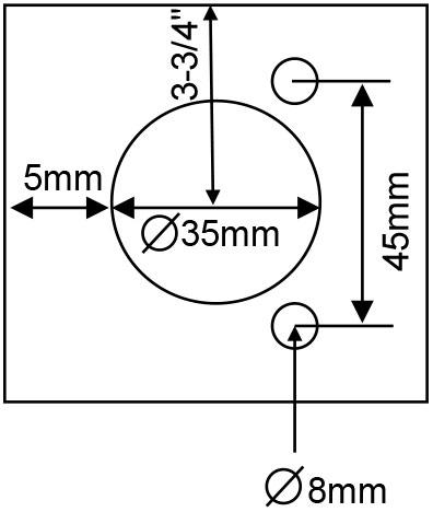 TaylorCraft's European hinge bore pattern