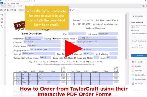 How to order custom cabinet doors using interactive order form