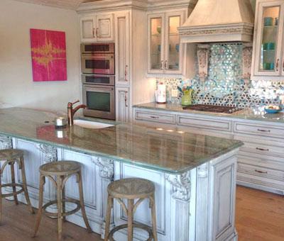 kitchen in paint grade maple