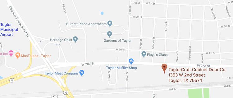 TaylorCraft Cabinet Door Company location