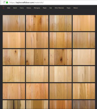 TaylorCraft Cabient Door Company wood options