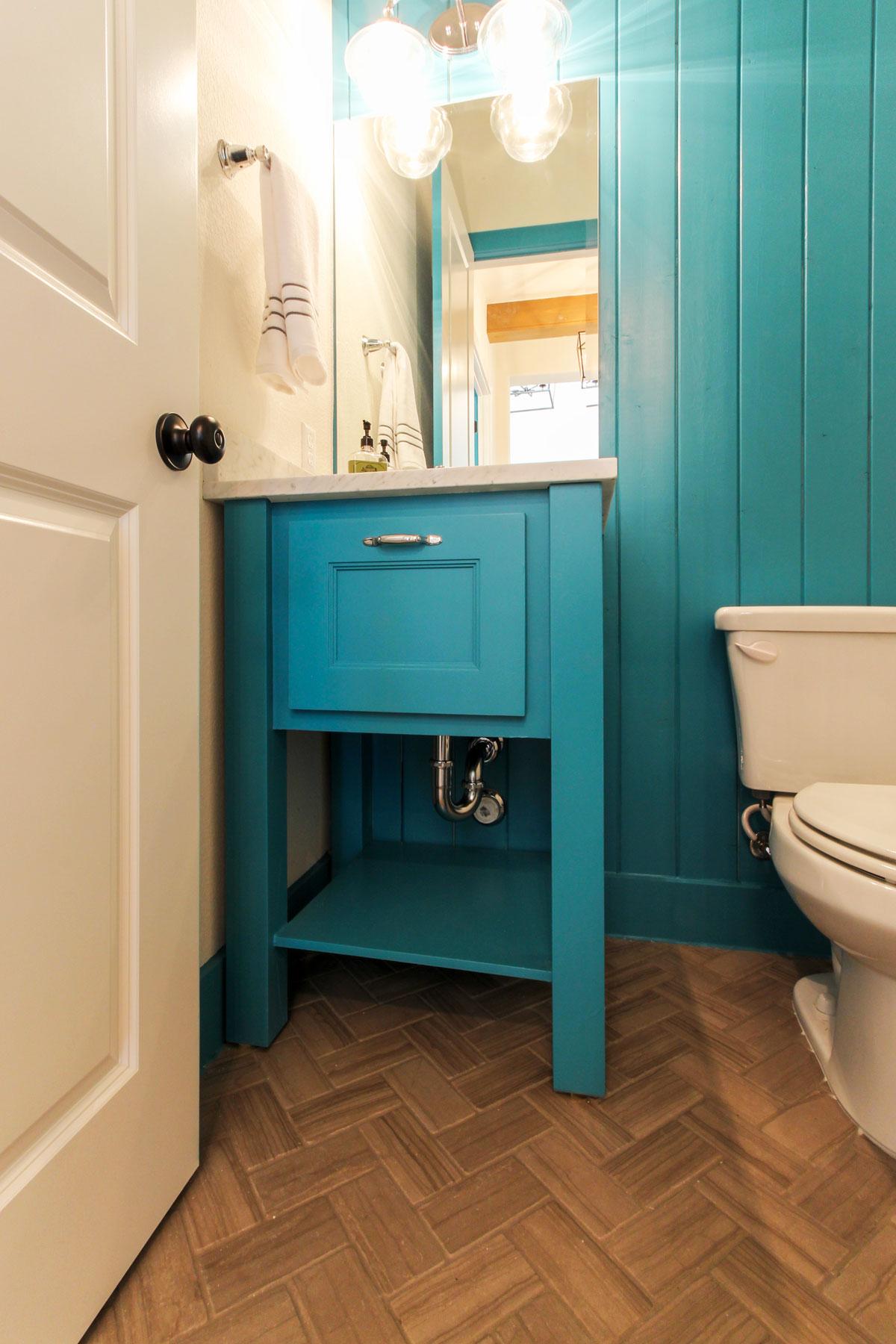 Green-Blue Bathroom Vanity