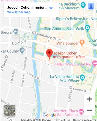 map-joseph-cohen-location-lawyer-san-antonio-texas