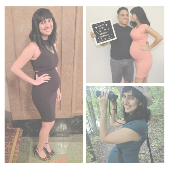 Photos of founders when pregnant in collage