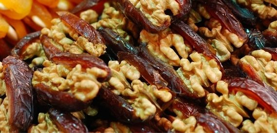dates and walnuts