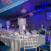 Room and decor with event logo
