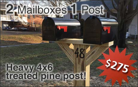 2 Mailboxes on 1 Post Installation Option