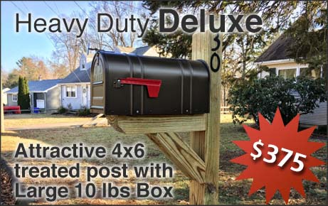 Heavy Duty Deluxe Mailbox with Post Installation Option